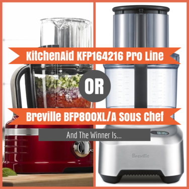 KitchenAid KFP164216 Pro Line vs Breville BFP800XL/A Sous Chef