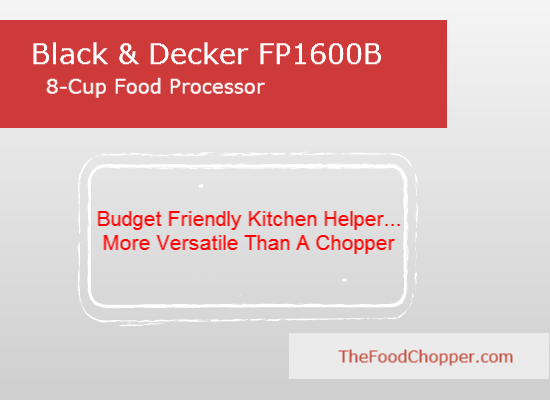 Black & Decker FP1600B 8 Cup Food Processor