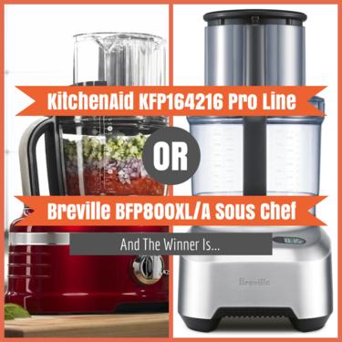 KitchenAid KFP164216 Pro Line vs Breville BFP800XL/A Sous Chef
