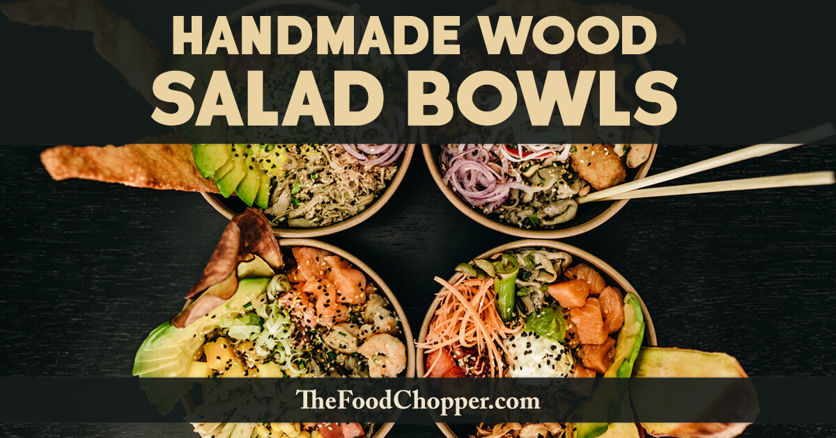 handmade wood salad bowls
