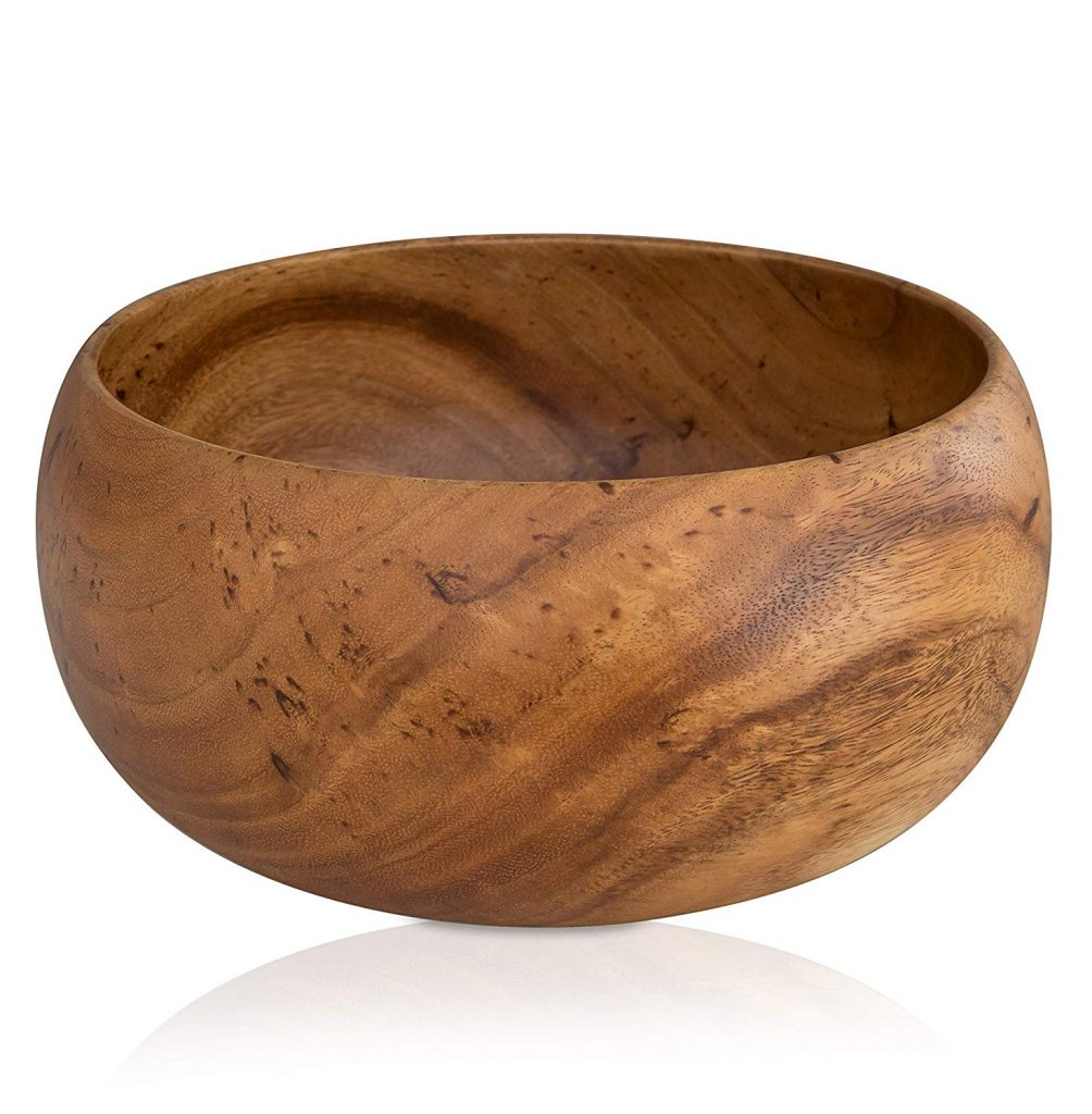 Large Handcrafted Wooden Bowl