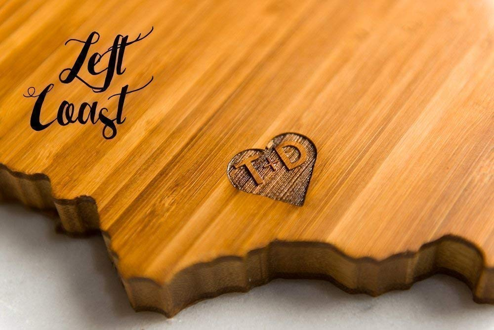 Personalized State Shaped Cutting Board